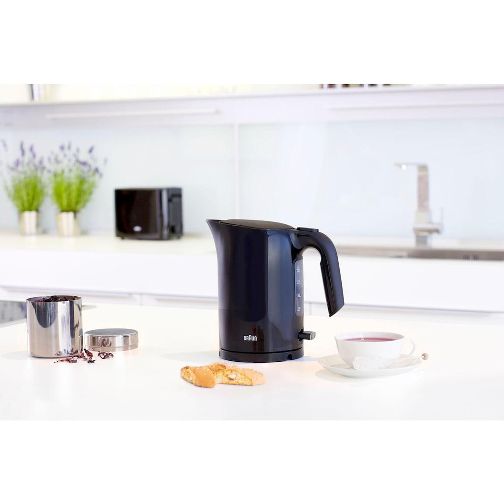 Braun Wasserkocher »WK 3000 BK«, 1 l, 2200 W