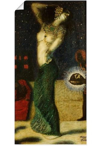 Artland Wandbild »Tanzende Salome.«, Frau, (1 St.), in vielen Größen & Produktarten... kaufen