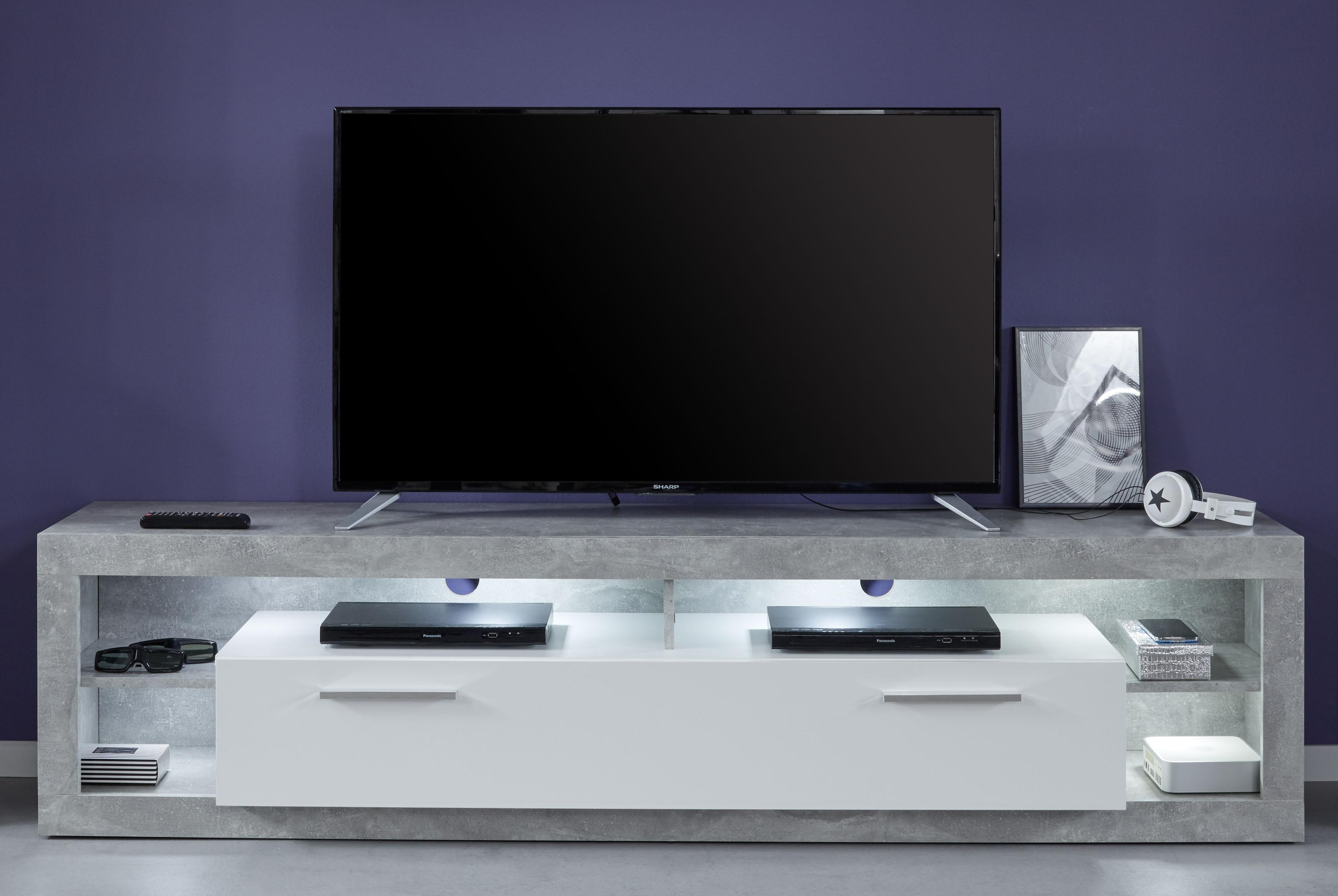 lowboard wei hochglanz 200 preisvergleich die besten angebote online kaufen. Black Bedroom Furniture Sets. Home Design Ideas