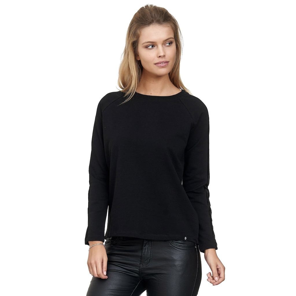 Decay Sweatshirt, mit schwarzen Samt-Seitenstreifen