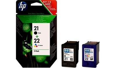 HP »hp 21 / hp 22, original, SD367AE sw/c/m/y 2 St./Pack.« Tintenpatrone kaufen