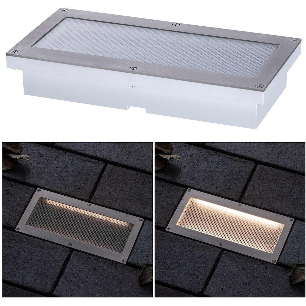 Paulmann LED Einbauleuchte »Aron Solar Bodeneinbauleuchte mit Bewegungsmelder«, Warmweiß
