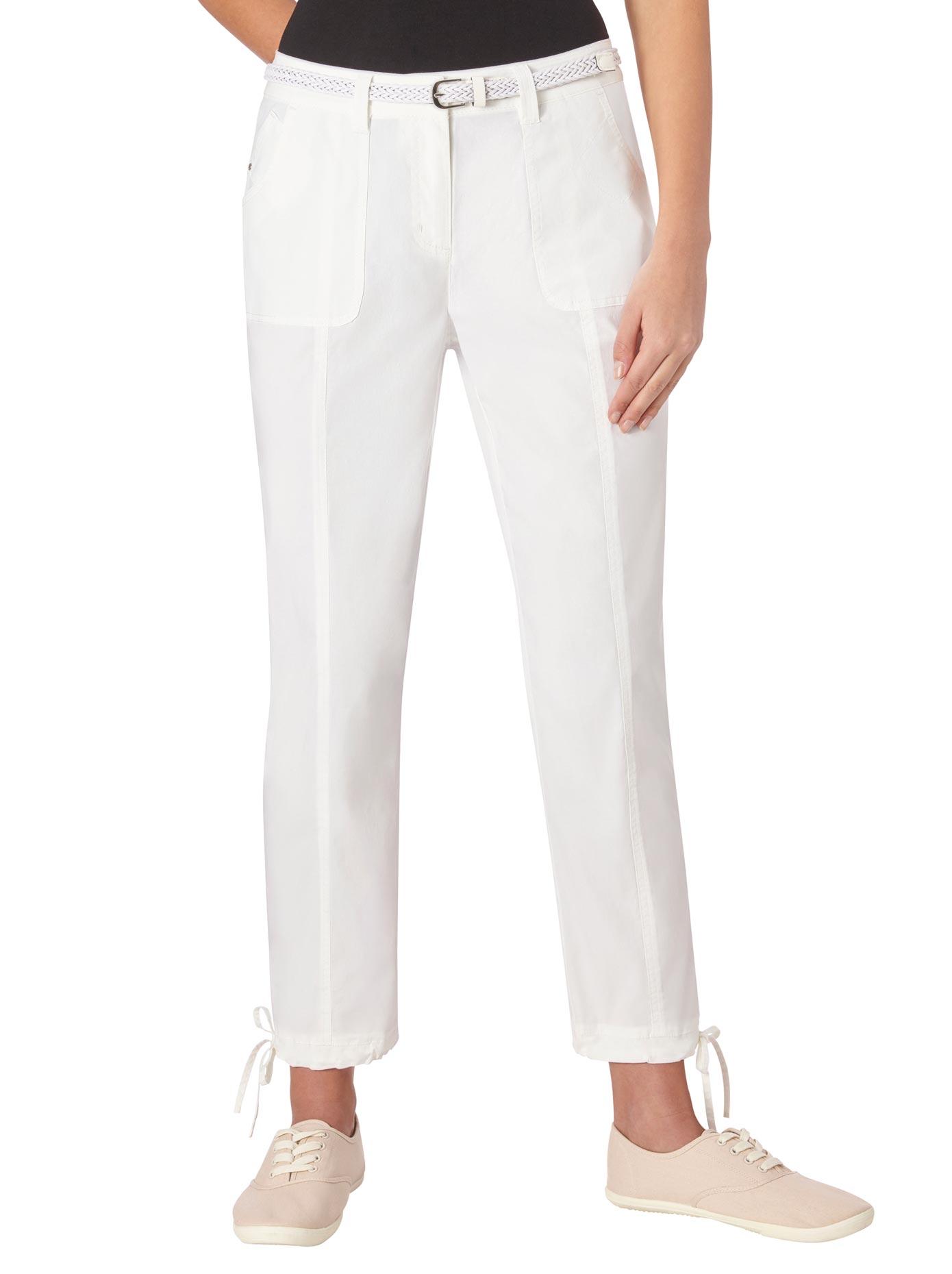 Casual Looks 7/8-Hose mit Bindeband am Saumabschluss | Bekleidung > Hosen > 7/8-Hosen | Casual Looks