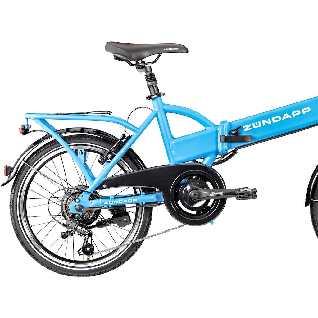 Zündapp E-Bike »Z101«, 6 Gang, Shimano, Tourney RD-TY300, Heckmotor 250 W