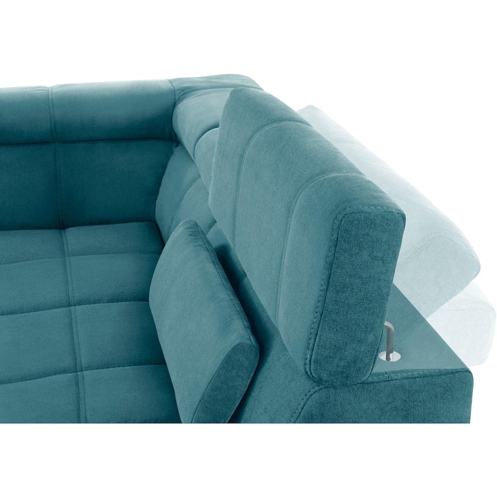DOMO collection Wohnlandschaft, inklusive Kopfteilverstellung, wahlweise mit Sitztiefenverstellung