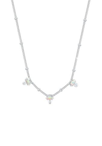 Elli Collierkettchen »Vintage Synthetischer Opal Zirkonia 925er Silber« kaufen