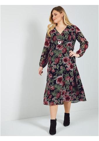 Sara Lindholm by Happy Size Maxikleid mit Blumendruck kaufen