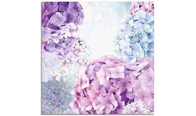 Artland Glasbild »Blau und Pink Hortensie«, Blumen, (1 St.) kaufen