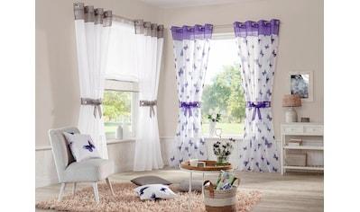 Gardine, »Villars«, my home, Ösen 2 Stück kaufen