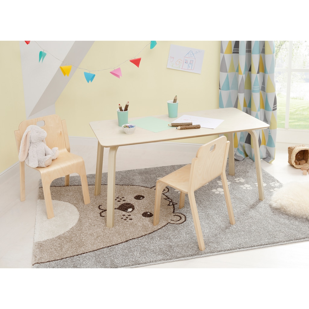 Lüttenhütt Kindertisch »Tommy«, aus Birkenschichtholz