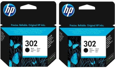HP »hp 302, original, F6U66AE , schwarz« Tintenpatrone (Set, 2 - tlg., Doppelpack) kaufen