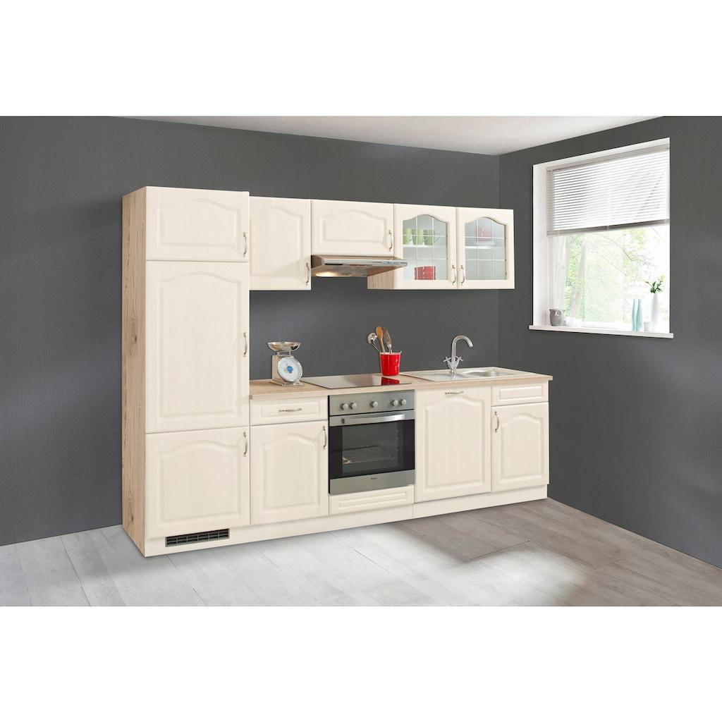 wiho Küchen Küchenzeile »Linz«, ohne E-Geräte, Breite 280 cm