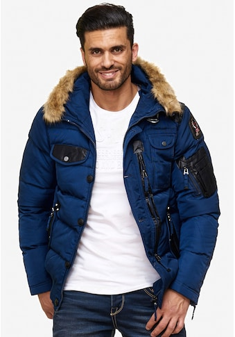 Cipo & Baxx Winterjacke, mit abnehmbaren Pelzkragen kaufen
