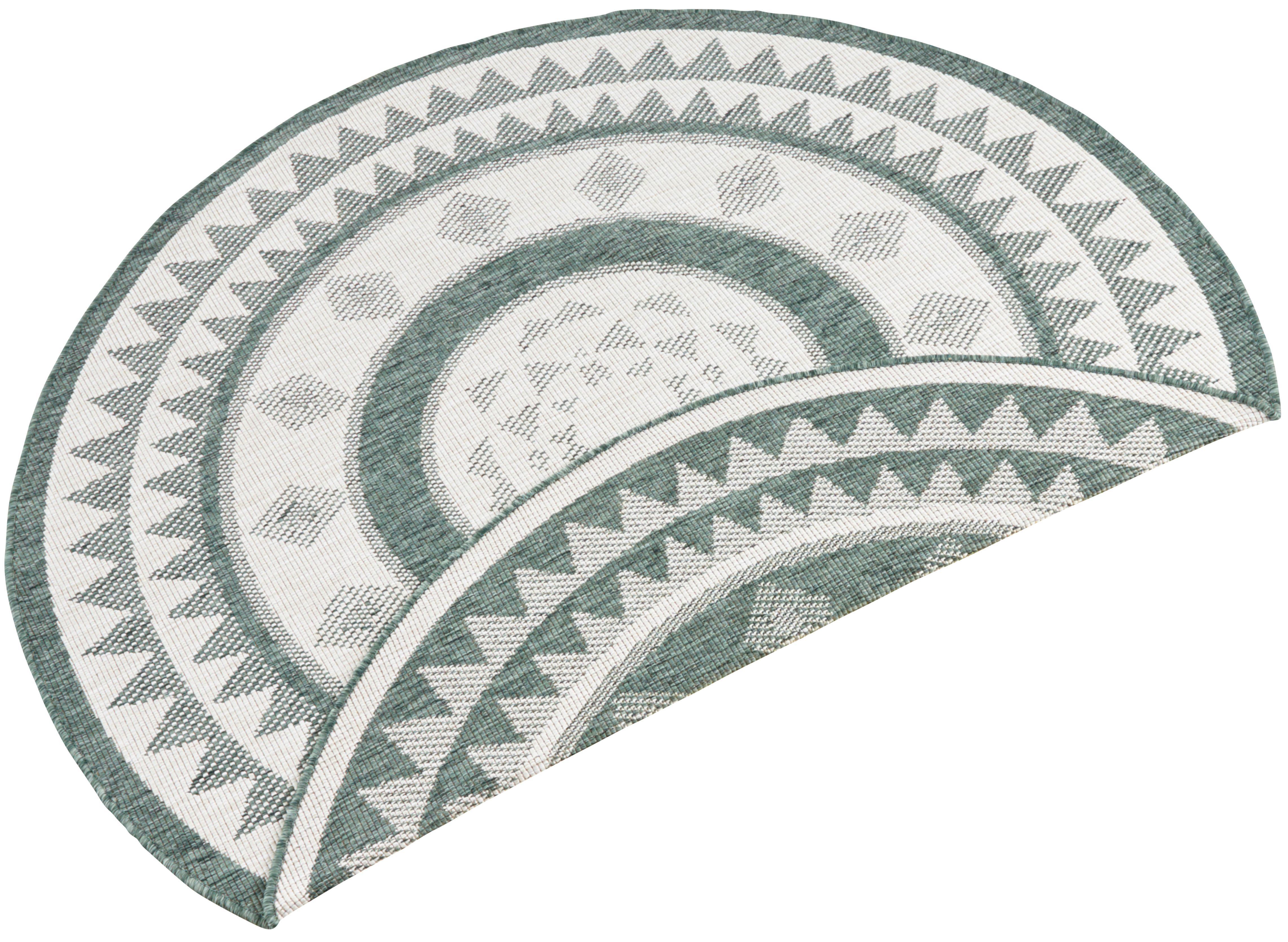 Teppich Jamaica bougari rund Höhe 5 mm maschinell gewebt