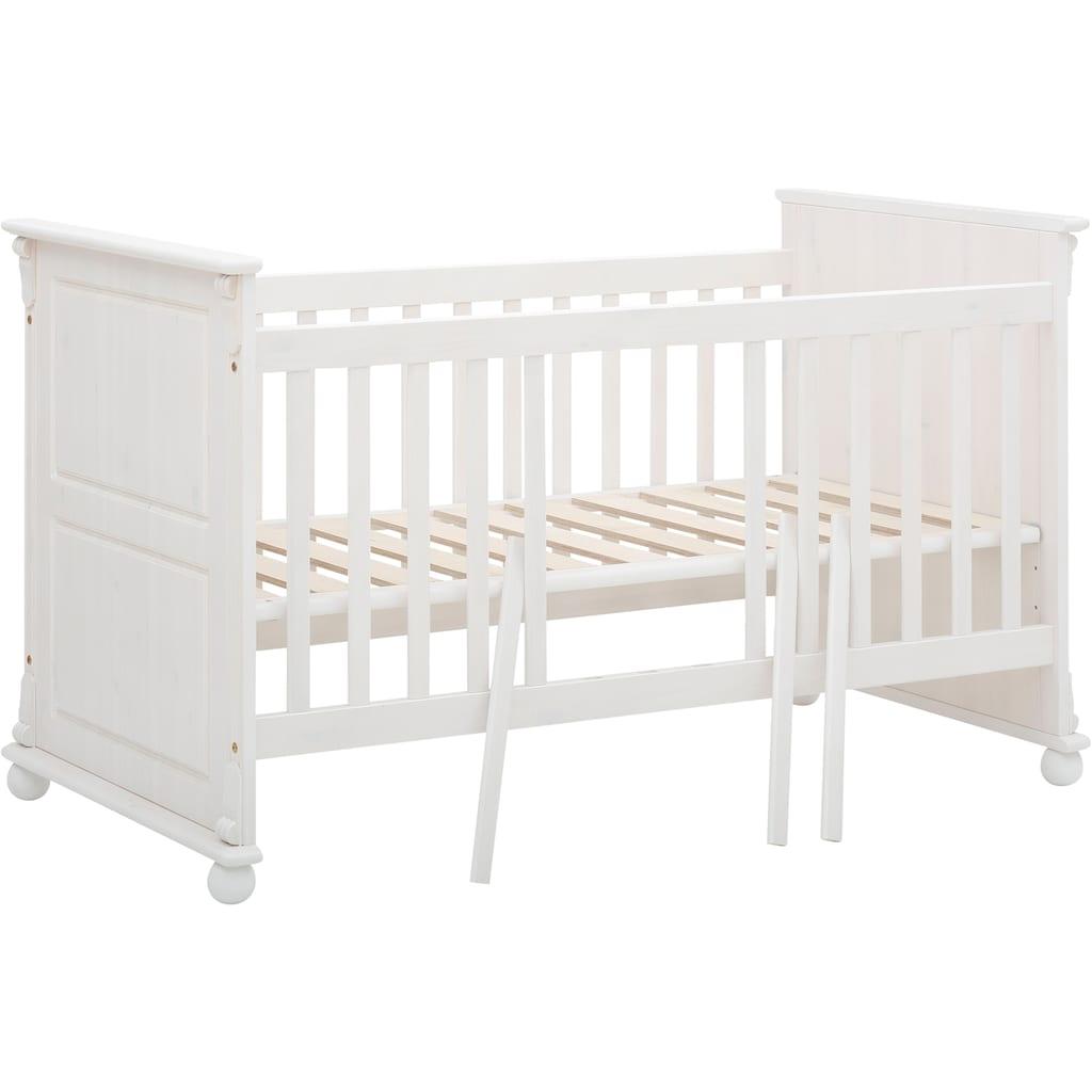 Lüttenhütt Baby Babyzimmer-Komplettset »Aimo«, (Set, 3 St.), aus Massivholz; FSC®-Holz aus gewissenhaft bewirtschafteten Wäldern; mit Kinderbett, Schrank und Wickelkommode