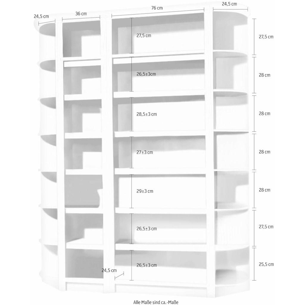 Home affaire Raumteilerregal »Soeren«, (4-tlg.), Höhe 220 cm, Tiefe 29 cm