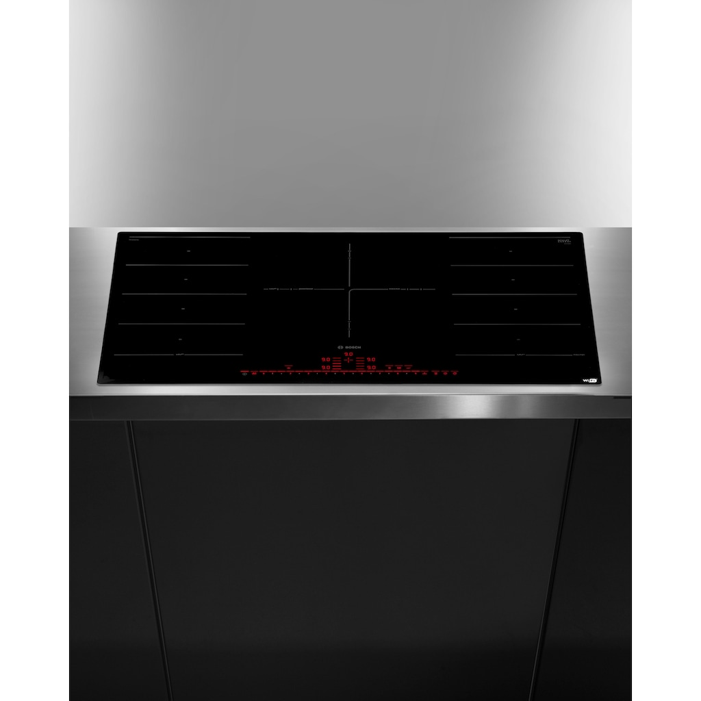 BOSCH Flex-Induktions-Kochfeld von SCHOTT CERAN®, PXV901DV1E, mit PerfectFry-Bratsensor