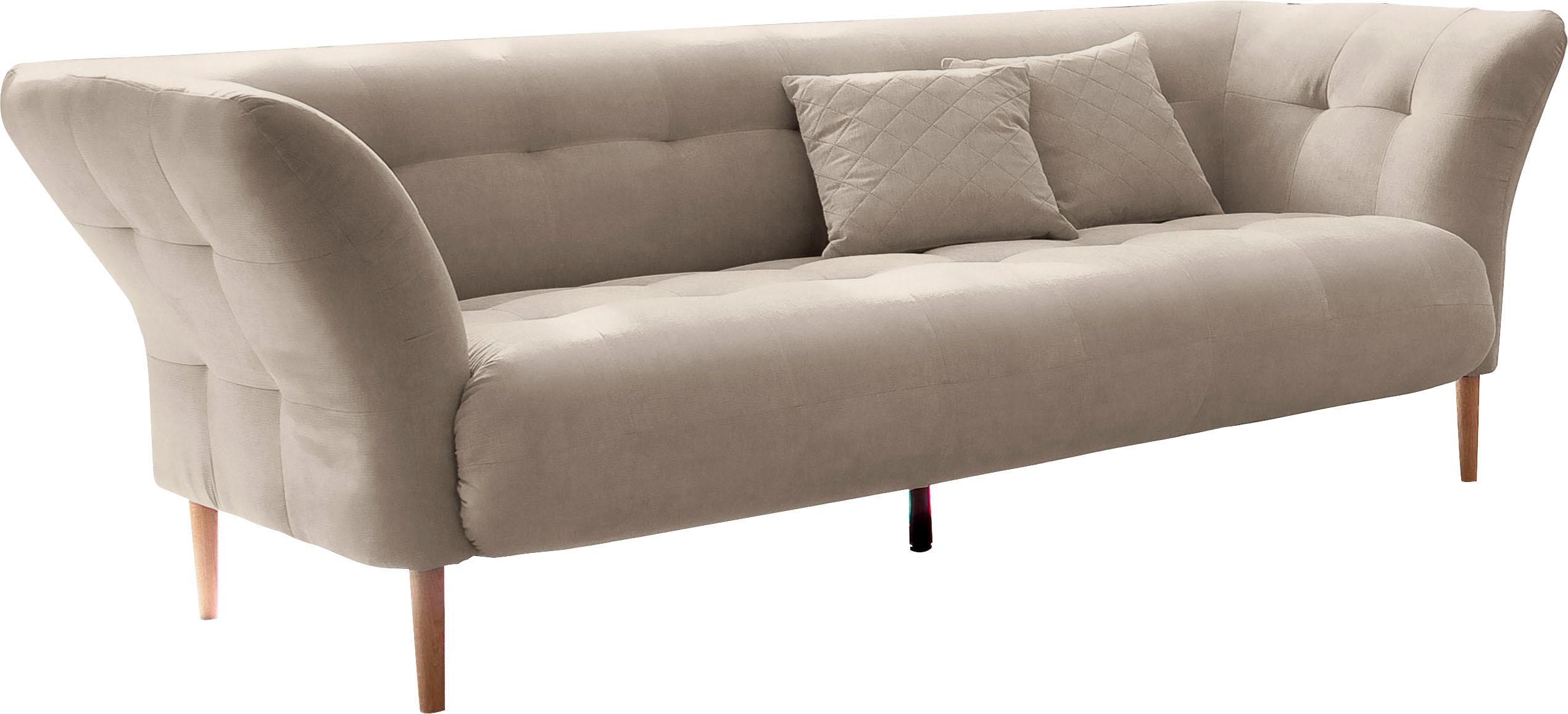 andas Trelleborg 3-Sitzer mit feiner Steppung bei Sitz und Rückenlehne