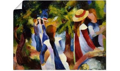 Artland Wandbild »Mädchen unter Bäumen. 1914«, Gruppen & Familien, (1 St.), in vielen... kaufen