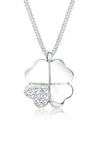 Elli Collierkettchen »Kleeblatt Clover Kristalle 925 Silber« kaufen