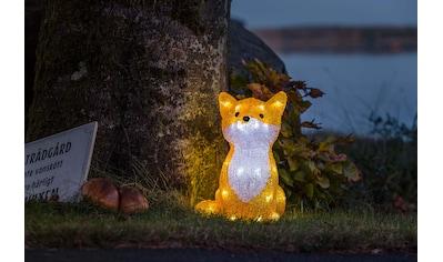 KONSTSMIDE LED-Dekofigur, LED Acryl Fuchs, 32 kalt weiße Dioden kaufen
