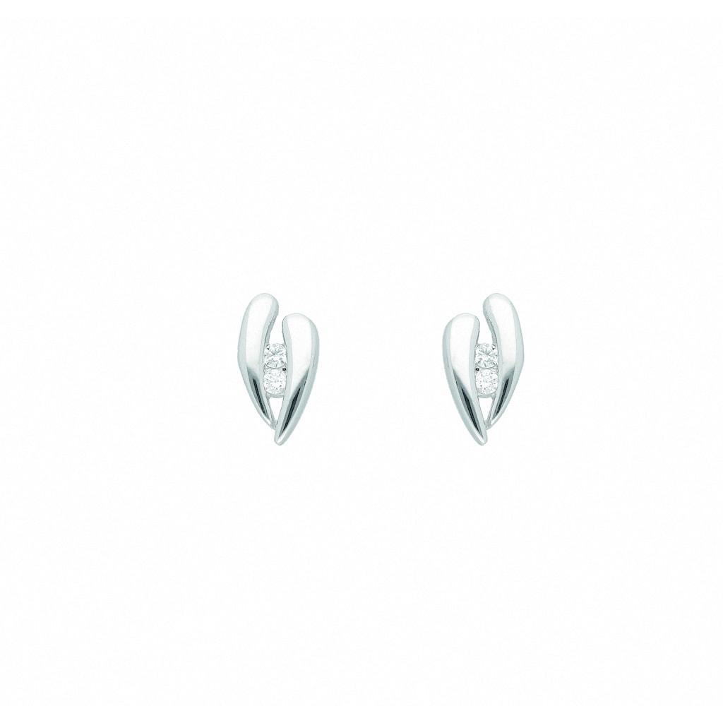 Adelia´s Paar Ohrhänger »333 Weißgold Ohrringe / Ohrstecker mit Zirkonia«, 333 Gold Goldschmuck für Damen