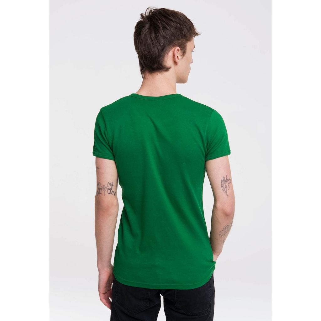 LOGOSHIRT T-Shirt »Kermit der Frosch«, mit witzigem Frontprint