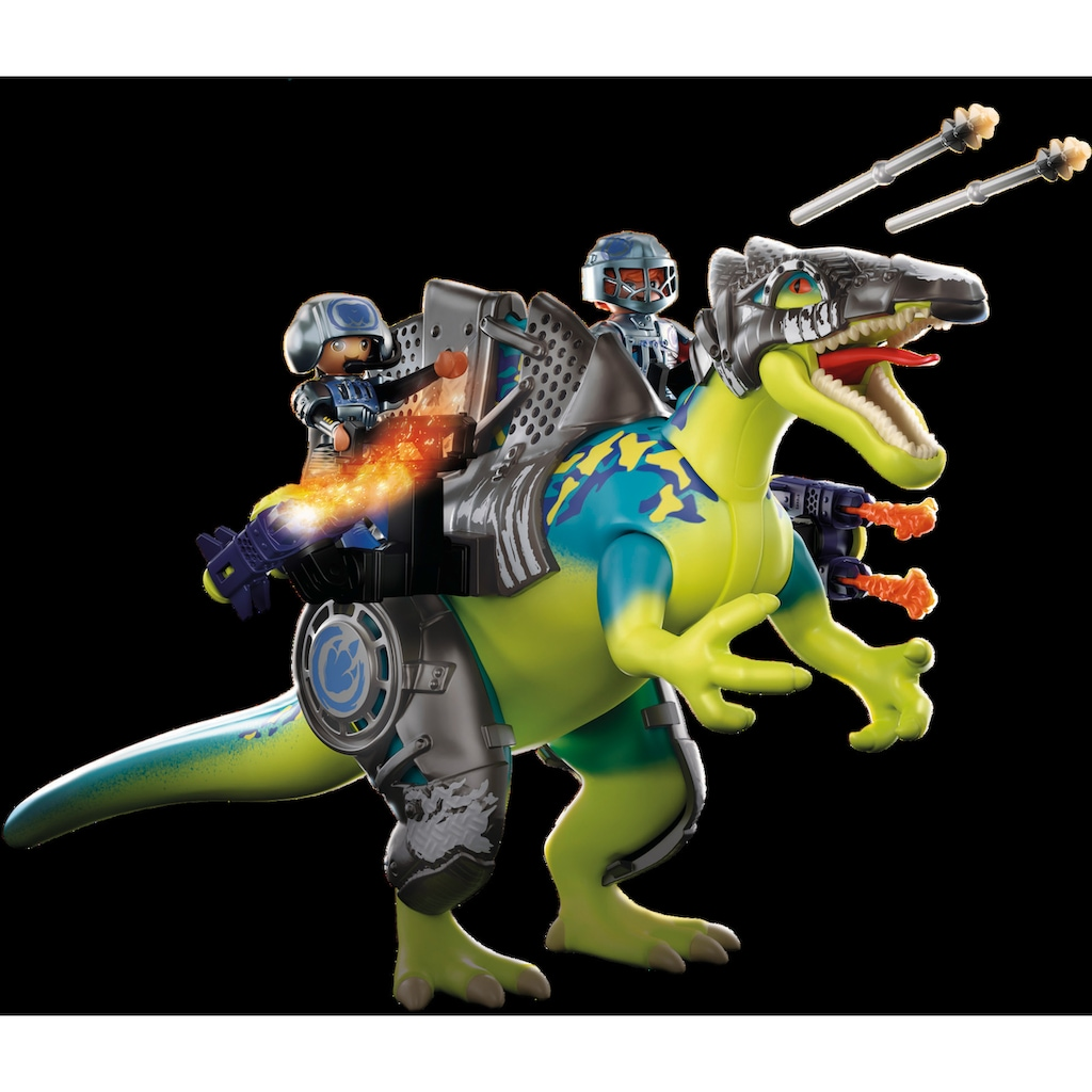 Playmobil® Konstruktions-Spielset »Spinosaurus - Doppelte Verteidigungs-Power (70625), Dino Rise«, (46 St.), Made in Europe