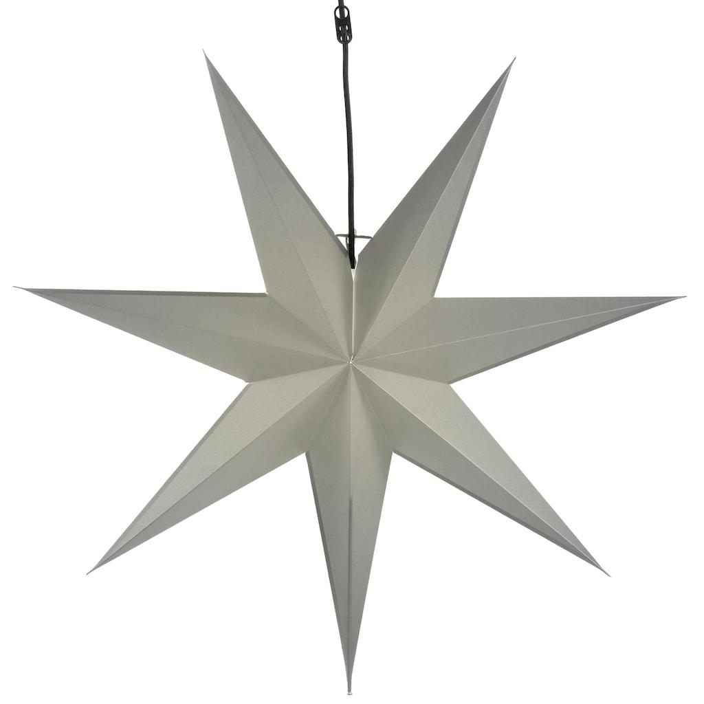 STAR TRADING Dekolicht »Stern«, E14, faltbarer Papierstern inkl. Lampenfassung, Ø 70 cm