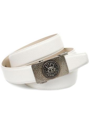 Anthoni Crown Ledergürtel, mit stilisierter Schließe kaufen