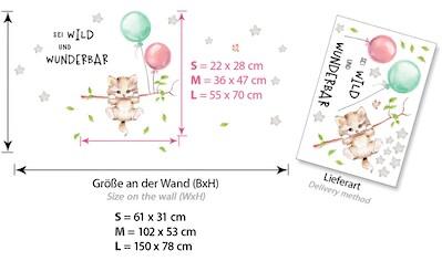 little DECO Wandtattoo »Little Deco Wandtattoo Sei wild & Katze mit Luftballons« kaufen
