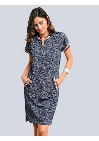 Alba Moda Jerseykleid mit Blumen - Dessin allover kaufen