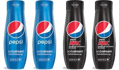 SodaStream Getränke-Sirup, Pepsi & PepsiMax, (4 Flaschen), für bis zu 9 Liter... kaufen