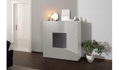 Villeroy & Boch Highboard »LUNA CARRÉ«, mit Keramik-Akzenttür in Basalto kaufen