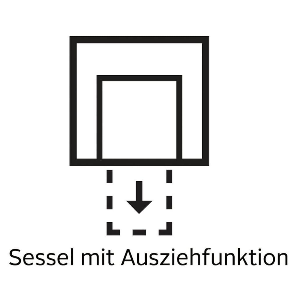 Home affaire Sessel »Mexico«, mit ausziehbarer Schlaffunktion, B/T/H: 98/83/87 cm