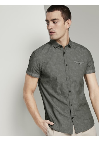 TOM TAILOR Kurzarmhemd »Gemustertes Kurzarmhemd mit Haifischkragen« kaufen