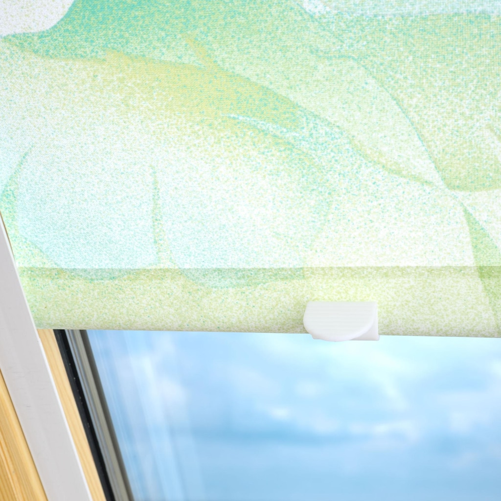 Liedeco Dachfensterrollo »Dekor«, Lichtschutz, in Führungsschienen, Dachfensterrollo Dekor