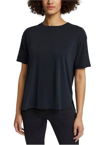 Esprit T-Shirt, mit Strick-Details kaufen