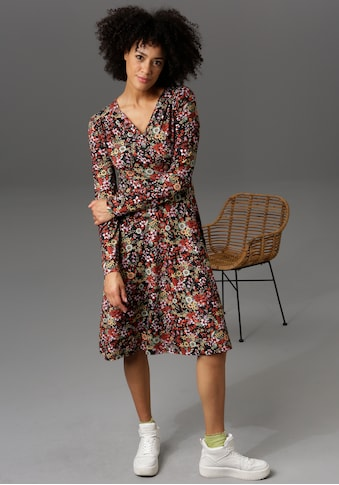 Aniston CASUAL Jerseykleid, in Wickel-Optik - NEUE KOLLEKTION kaufen