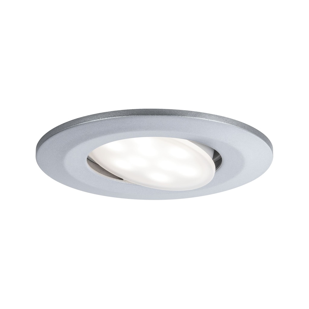 Paulmann LED Einbaustrahler »schwenkbar Chrom matt Calla rund 1x6,5W«, 1 St., Neutralweiß