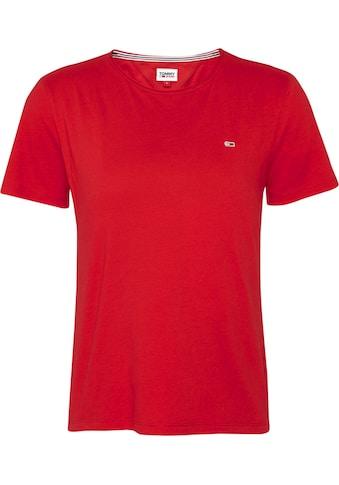 Tommy Jeans Rundhalsshirt »TJW SLIM JERSEY C NECK«, mit Tommy Jeans Logo-Flag kaufen