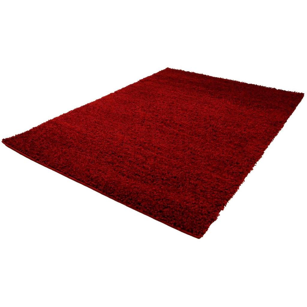 Carpet City Hochflor-Teppich »Shaggi uni 500«, rechteckig, 30 mm Höhe, Wohnzimmer