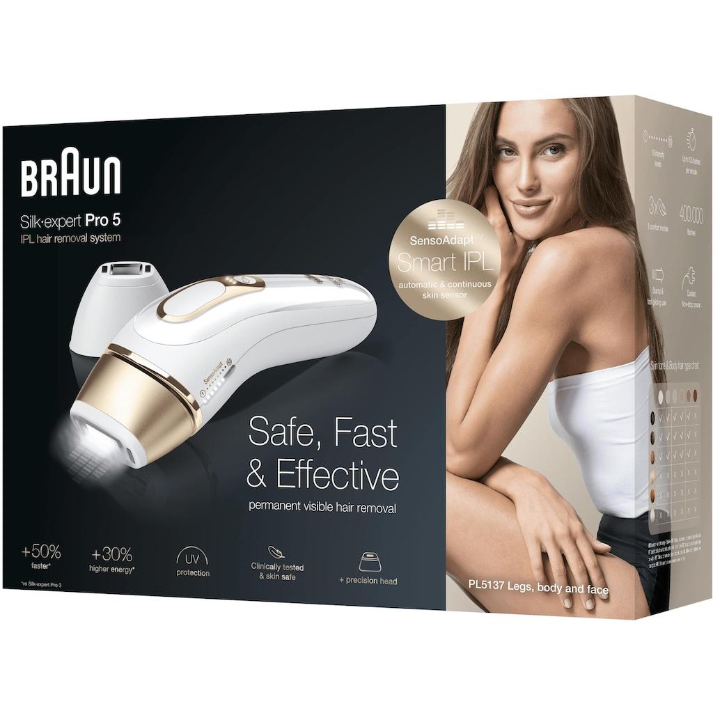 Braun IPL-Haarentferner »Silk·Expert Pro 5 PL5137«, 400.000 Lichtimpulse, Smart IPL