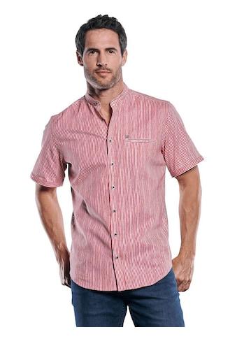 Engbers Gestreiftes Kurzarmhemd mit stilvollem Stehkragen kaufen