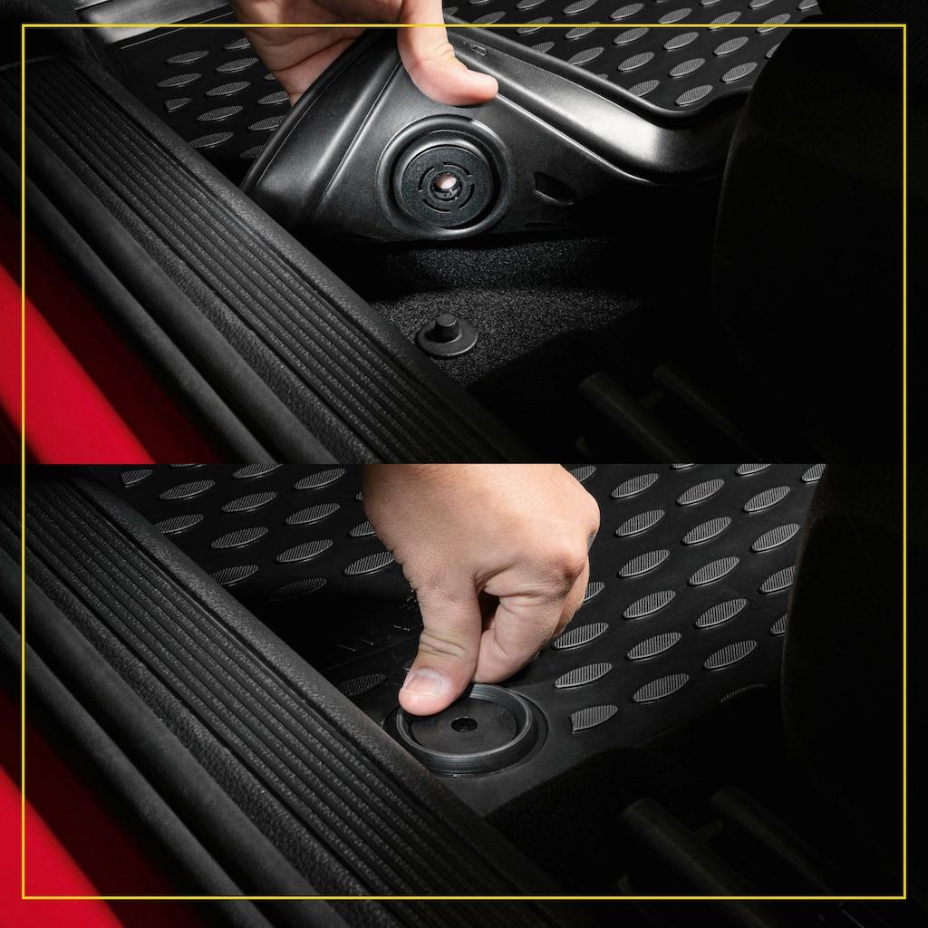 WALSER Passform-Fußmatten »XTR«, (4 St.), für Ford Focus II Turnier Bj 07/2004 - 09/2012, Focus II Stufenheck Bj 04/2005 - Heute, Focus II Cabriolet Bj 10/2006 - 09/2010