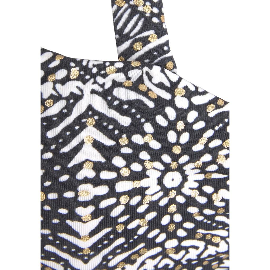 LASCANA Bügel-Bandeau-Bikini-Top »Giselle«, mit modernem Print