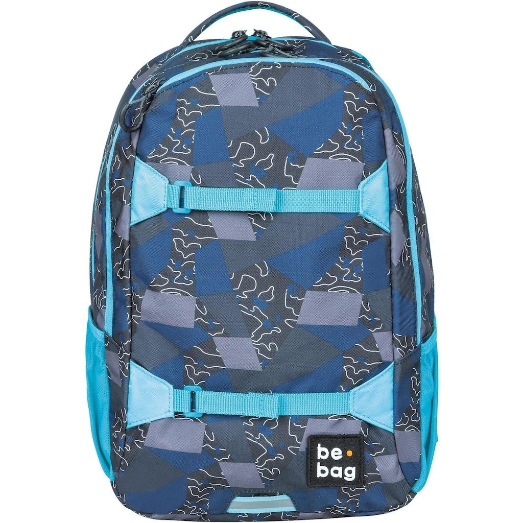 Pelikan Schulrucksack »be.bag be.explorer, Edgy Labyrinth«, Reflektionsnähte-reflektierende Streifen auf den Schultergurten
