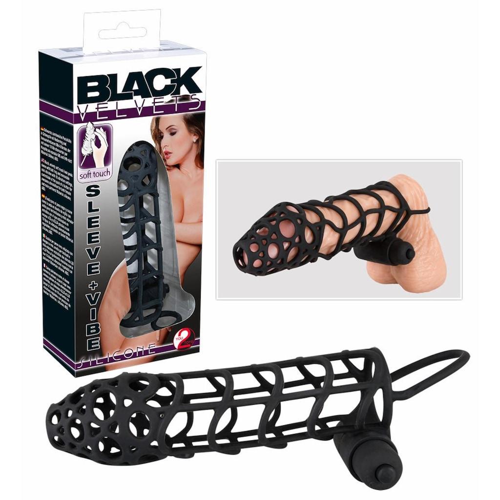 BLACK VELVETS Penishülle »Sleeve + Vibe«, (Set, 2 tlg., mit Minivibrator)