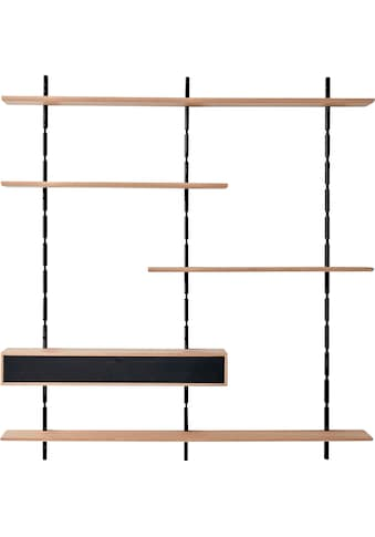 PBJ Wandregal »Less«, inklusive Mediakabinet, Breite 158 cm kaufen