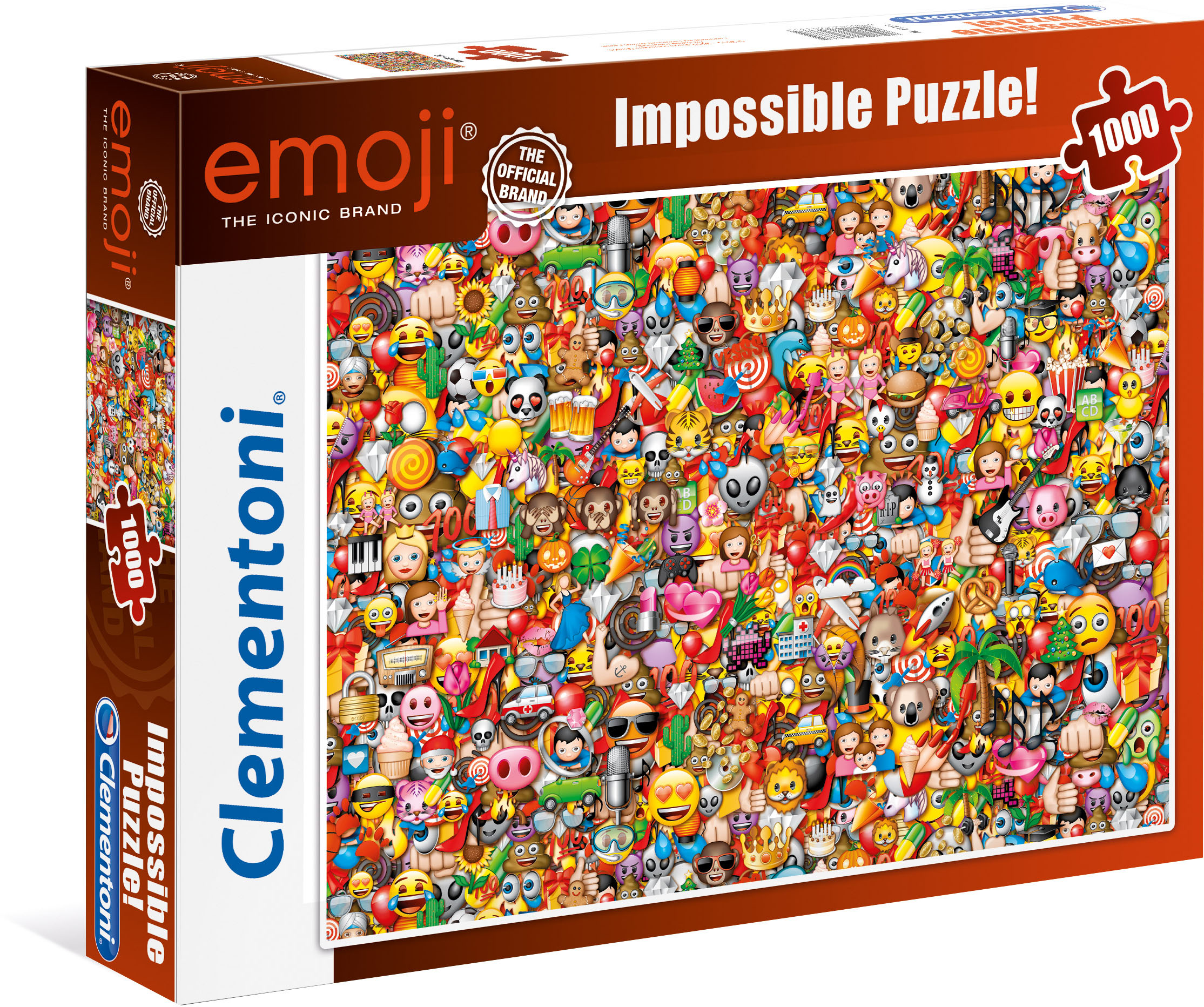 Clementoni Puzzle Impossible Collection - Emoji, Made in Europe bunt Kinder Ab 9-11 Jahren Altersempfehlung